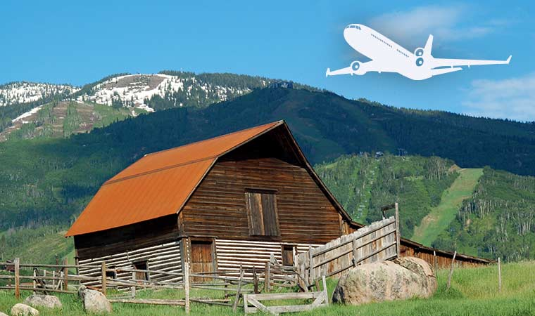 Air Transportation to Steamboat Springs